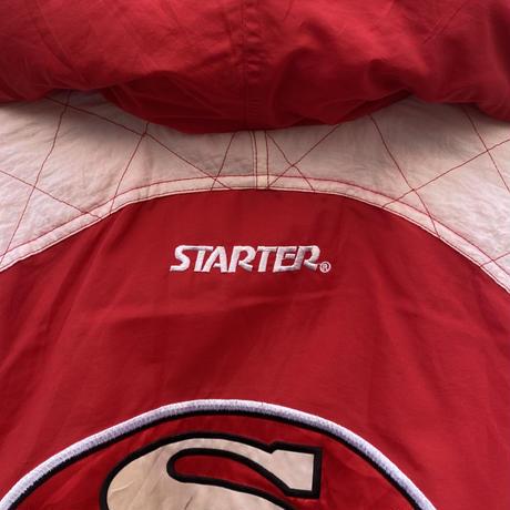 STARTER SAN FRANCISCO 49ers/スターター サンフランシスコ49ers 中綿フードジャケット 90年代 (USED)