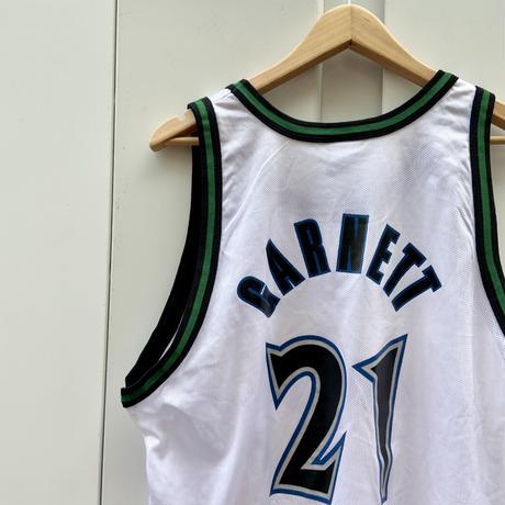Champion NBA TIMBERWOLVES/チャンピオン ミネソタティンバーウルブズ バスケットタンクトップ 21 GARNETT 90年代 (USED)