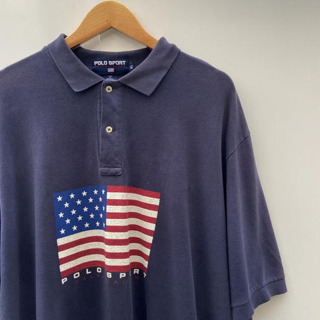 POLOSPORT/ポロスポーツ フラッグ柄ポロシャツ 90年代 Made In USA (USED)
