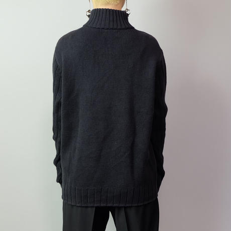 Vintage   POLO JEANS Harf zip Knit