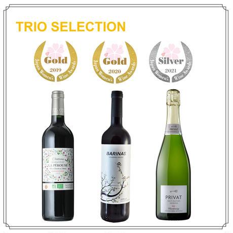 【Trioセレクション】おいしい!お料理に合う!コスパの良い!「サクラアワード」受賞のオーガニックワインセット
