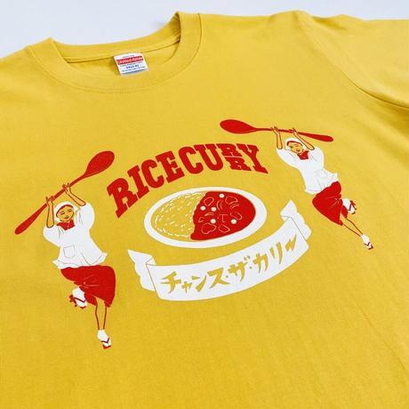 ライスカレー Tシャツ【ターメリック色】
