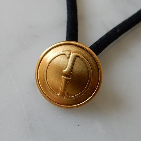 ヴィンテージ GUCCI グッチ GGボタン ゴールドボタン  14mm ボタン ゴールド ヘアゴムのおまけ付(g-1)