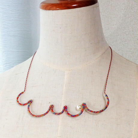 Japanese silk cord necklace くみひもネックレス/もこもこ