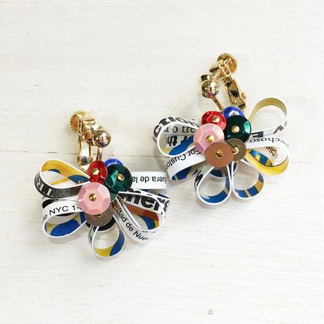 Metrocard earrings メトロカードイヤリング/フラワータイプ・ゴールド04