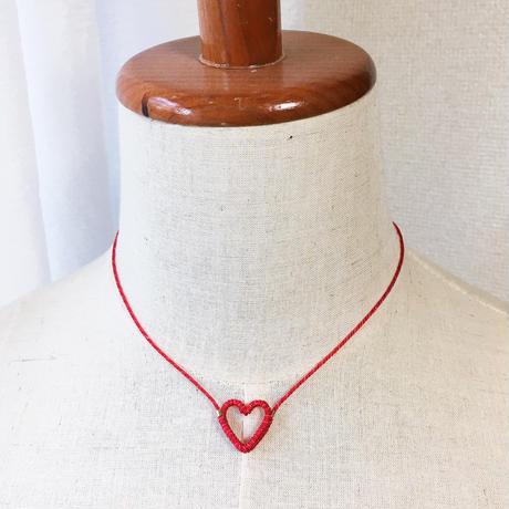 [セミオーダー]Japanese silk cord necklace くみひもネックレス/ハート