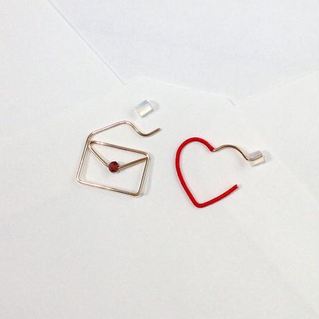 14KGF wire earring/14KGFワイヤー/ラブレターピアス