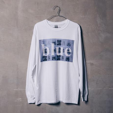 【blue】 Long sleeve  T-shirt