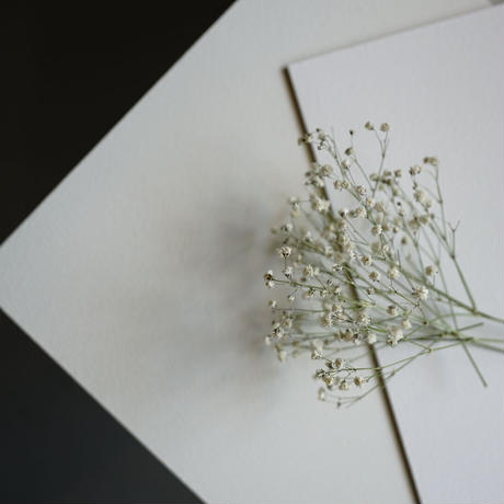 A1サイズ:基本の白い漆喰のスタイリングボードbasic white