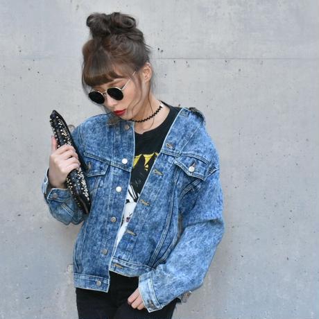 vintage  demin  jaket