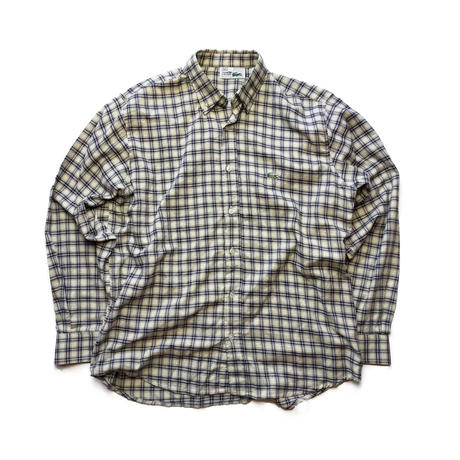 Made in FRANCE/90's LACOSTE/B.D Check Shirts/Natural×Black/Used