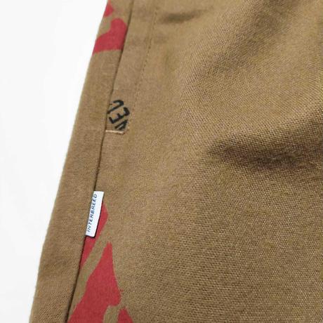 """INTERBREED(インターブリード)RAW x INTERBREED """"Logo Textile Trouser"""" / Lt Brown"""