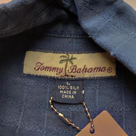 90's Tommy Bahama/Island Silk Shirts/Navy/Used