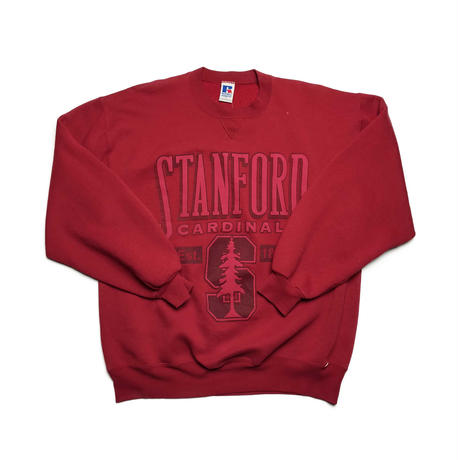 "90's USA/""STANFORD""Crew Neck/Burgundy/Used"