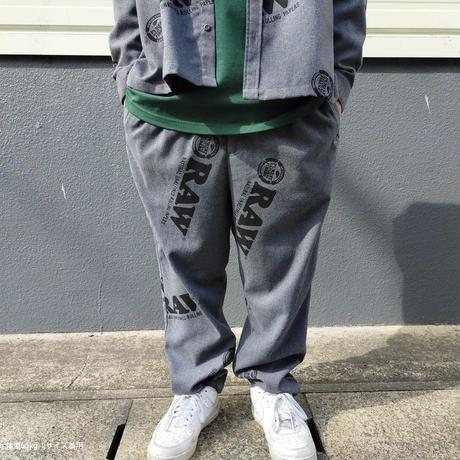 "INTERBREED(インターブリード)RAW x INTERBREED ""Logo Textile Trouser"" / Cool Grey"