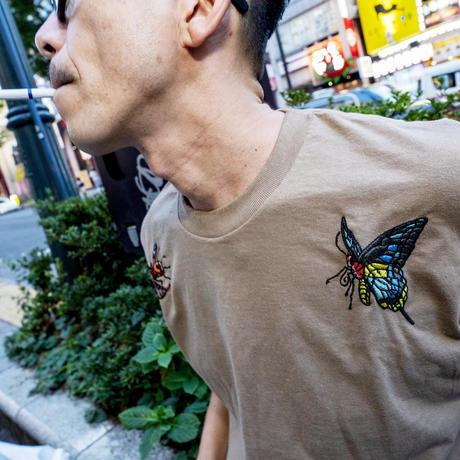 FLATLUX(フラットラックス)SOULSCREAM x FLATLUX - Bee&Butterfly Tee(3カラー)