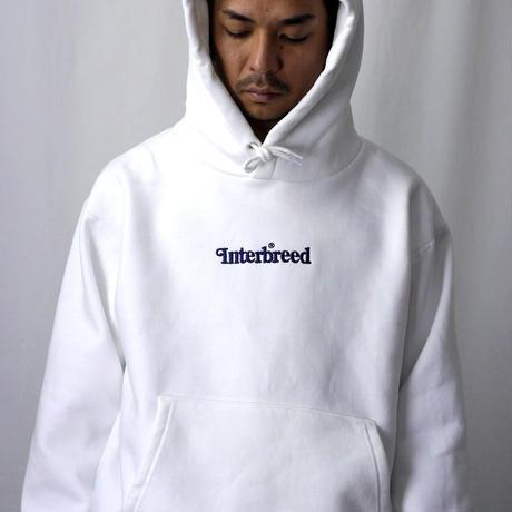 INTERBREED(インターブリード)Archive Logo Pullover Hoodie(ホワイト)IB19AW-03 パーカー スウェット プルオーバー 刺繍 12.4OZ