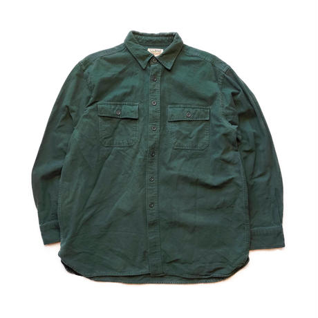 90's L L.Bean/Heavy Weight Work Shirts/Green/Used