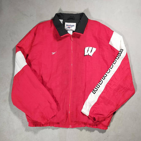 90's Reebok/WISCONSIN BADGERS Nylon Jersey/Red/Used
