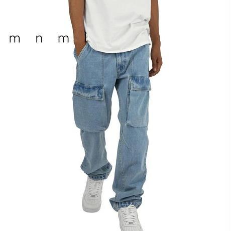 mnml(ミニマル) V216 CARGO DENIM LIGHT BLUE カーゴ デニム パンツ