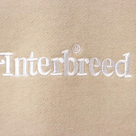 INTERBREED(インターブリード)Archive Logo Pullover Hoodie(サンド)IB19AW-03 パーカー スウェット プルオーバー 刺繍 12.4OZ