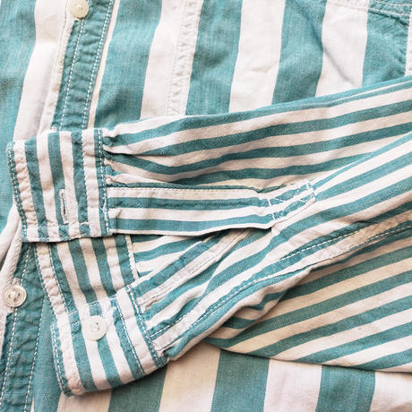 Classic Levi's/Swich Stripe Shirts/Lt .Green/Used
