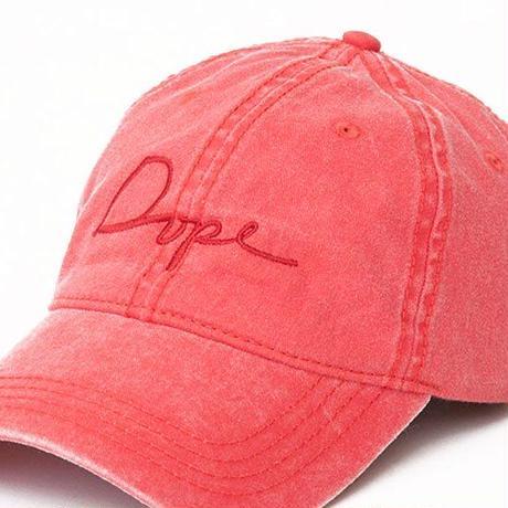 DOPE(ドープ)Script Logo Vintage 6Panel Low Cap 2 VintageRed