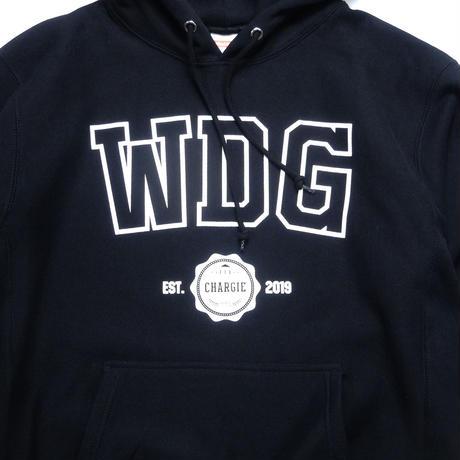 【受注生産アイテム】Wedge×CHARGIE(ウェッジ×チャージー)Heavy Weight College Hoodie(BLACK)