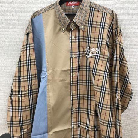 スカーフロゴ刺繍ネオチャラーバリーシャツ