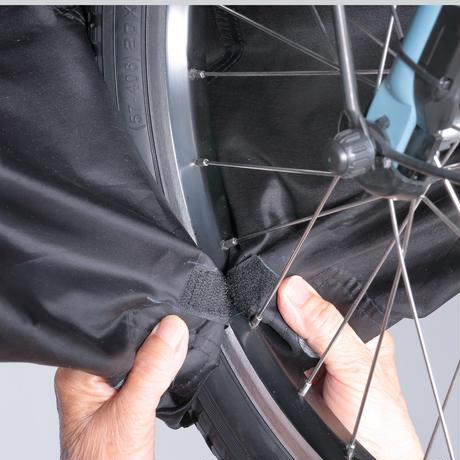 サイクルカバー カバーするよ。 自転車カバー アシスト車対応 ファスナー付き 風飛び防止バックル ハイバック 撥水 防水 川住製作所 KW419AS/BK