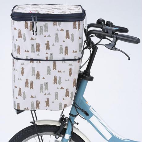 2段式 自転車 前カゴカバー 防水 撥水 電動アシスト対応 10柄から選べる おしゃれ かわいい 川住製作所 NET-101