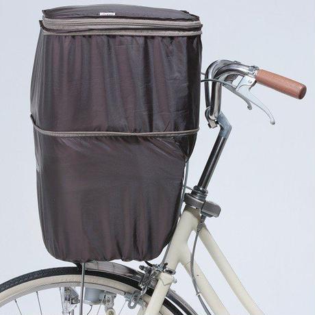 2段式自転車前カゴカバー ファスナー両開き 反射帯付き ワイドかご対応   撥水防水 川住製作所 770BR