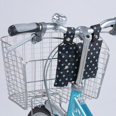 2段式自転車カゴカバー 前後兼用 かぶせるタイプ 収納袋付 111BD