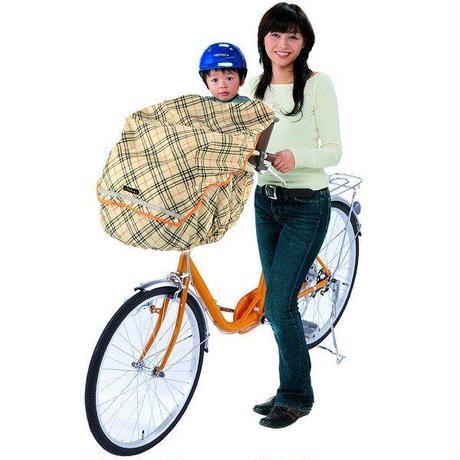 自転車用チャイルドカバー かわいい  ベージュチェック   撥水防水 川住製作所 KW460L