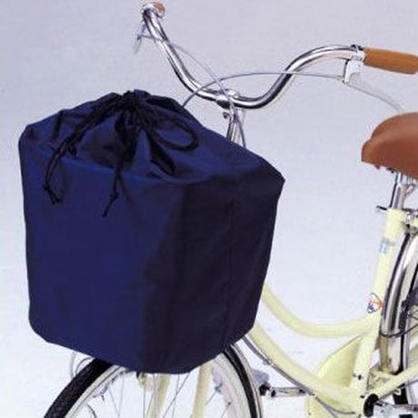 自転車 カゴカバー 川住製作所 自転車前カゴカバー おしゃれ きんちゃく 巾着 ネイビー 218N