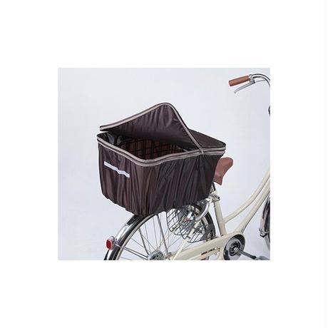 2段式 自転車 後カゴカバー 大型カゴ対応 こげ茶   撥水防水 川住製作所 786BR