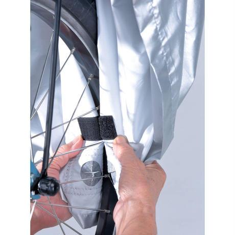 自転車カバー ハイバック 風飛び防止 サイクルカバー おしゃれ 電動アシスト車対応 ファスナー付き 撥水 川住製作所 379AS/SL-3