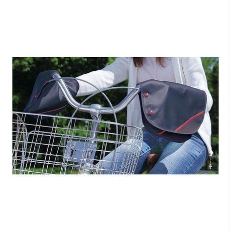 自転車ハンドルカバー 夏用 紫外線カット ブラックレッド  川住製作所 KW467BK