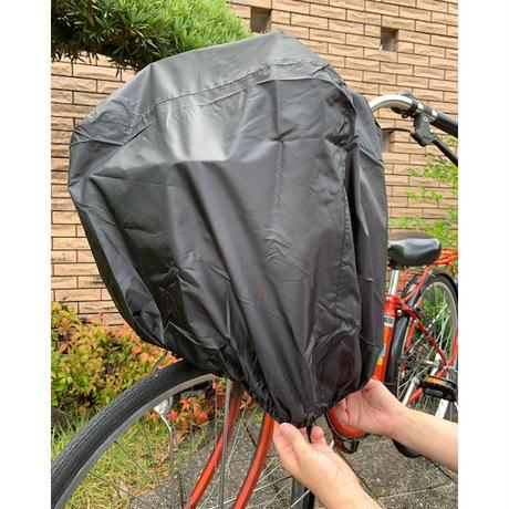 前後兼用すっぽりかぶせるカバー 自転車 前カゴカバー 後ろカゴカバー 大型カゴ 学生カバンやスポーツバッグもカバー  撥水 防水 川住製作所