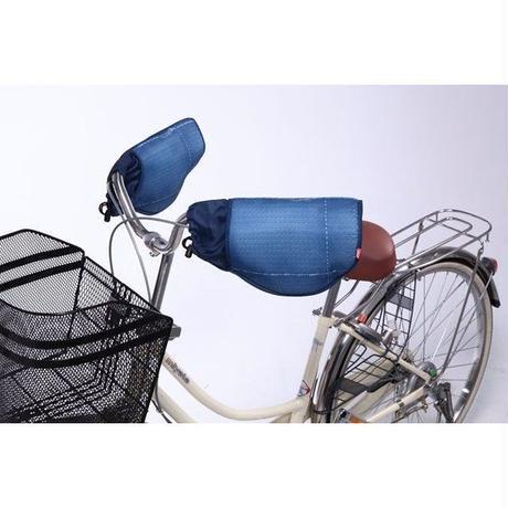 自転車ハンドルカバー 防風・防寒 デニム調 おしゃれ  川住製作所 KW466
