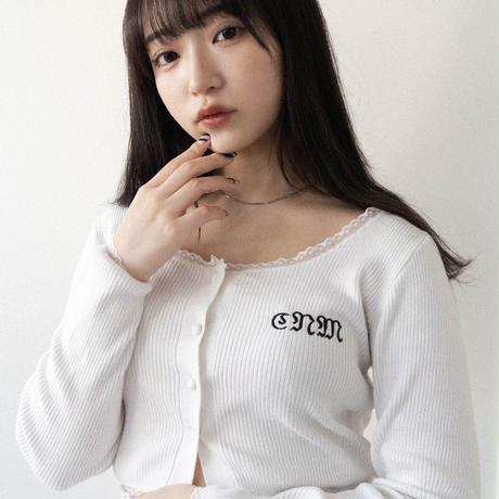Lace cardigan 【white】