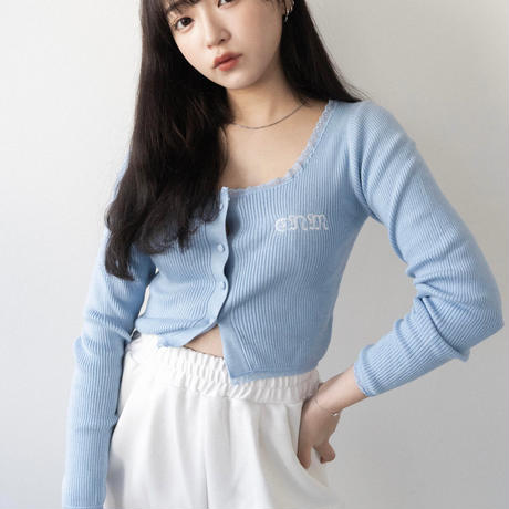 Lace cardigan 【blue】
