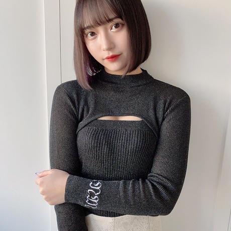 【Black】laméKnit
