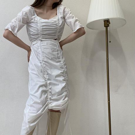 gather shirt OP 【white】