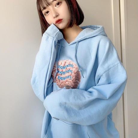 【BLUE】BRAIN HOODIE
