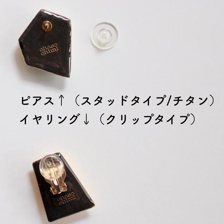 スクエアカット  【ピアスorイヤリング】d~f
