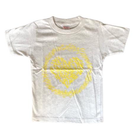 LEX x CheeRing School コラボレーションTシャツ グレーxイエローロゴ