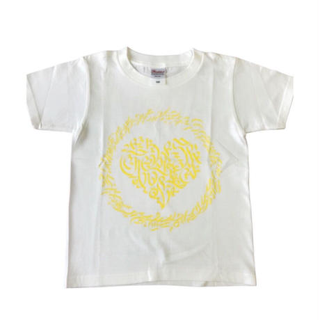 LEX x CheeRing School コラボレーションTシャツ ホワイトxイエローロゴ