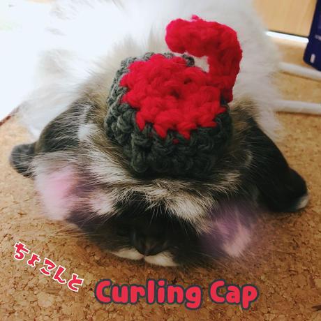 ちょこんとカーリング帽子