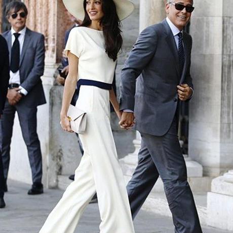 海外インポートセレクトバイカラーワイドパンツセットアップスーツ白色